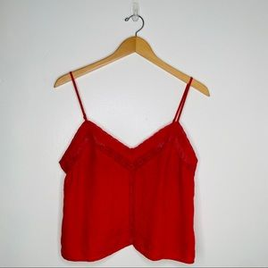Wilfred Aritzia Lace Linen Camisole Tank